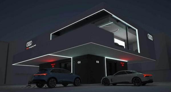 Audi, прототип высокоскоростной зарядки для электрокаров