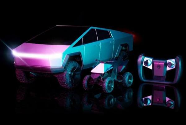 Tesla Cybertruck, игрушечный, квадроцикл