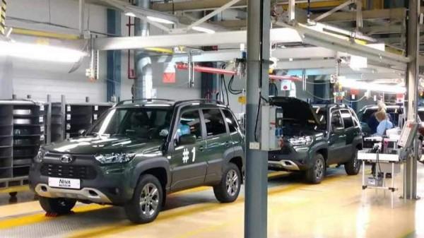 Lada Niva Travel, завод, конвейер