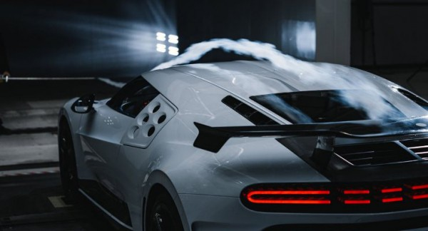 Bugatti Centodieci, гиперкар, аэродинамические испытания